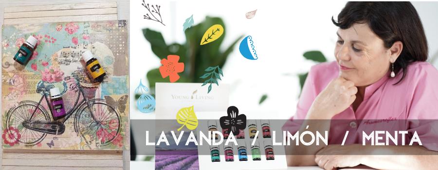 MIS ACEITES ESENCIALES LAVANDA /LIMÓN Y MENTA